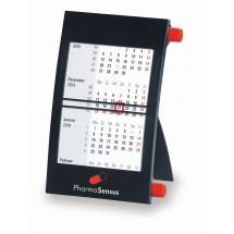 Kunststoff-Tischkalender 1-sprachig-grau