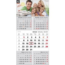"1-Block-Wandkalender ""Top Five""-schwarz /880_ rot"