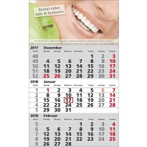 1-Block-Wandkalender Standard 1-schwarz