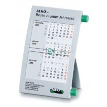 Kunststoff-Tischkalender 6-sprachig-grau