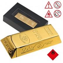 Feuerzeug Goldbarren - gold