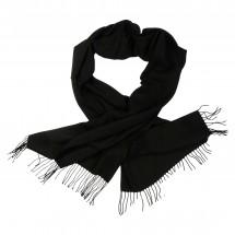 Langschal, ca. 60x200cm, 60% Polyester, 40% Viskose - schwarz