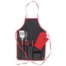 BBQ Set Axon - schwarz/rot
