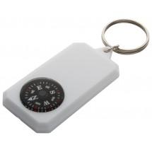 Schlüsselanhänger mit Kompass Magellan - weiss