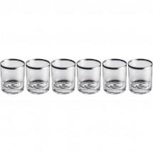 Set aus 6 Whiskygläsern - transparent