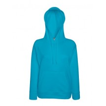 Lady-Fit Lightweight Hooded Sweat - Azure Blue