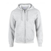 Heavy Blend? Full Zip Hooded Sweatshirt - Ash (Heather)