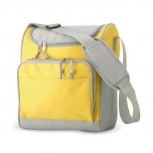 Kühltasche mit Fronttasche ZIPPER - gelb