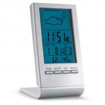 Wetterstation mit blauem LCD SKY - silber