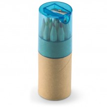 12 Buntstifte LAMBUT - transparent blau