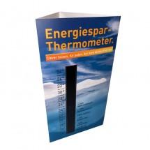 Energiesparthermometer-Tischaufsteller, hochkant