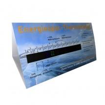 Energiesparthermometer-Tischaufsteller, quer
