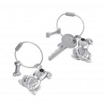 Schlüsselanhänger PETE - silber