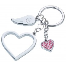 Schlüsselanhänger LOVE IS IN THE AIR - silber