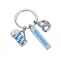 Schlüsselanhänger OKTOBERFEST - blau, silber, weiß