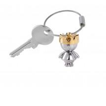 Schlüsselanhänger LITTLE KING - gold, silber