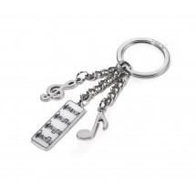 Schlüsselanhänger 5. SINFONIE - schwarz, weiß