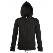 Women Hooded Zipped Jacket Seven - Black