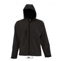 Hooded Softshell Jacket Replay - Black