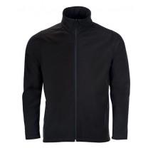 Mens Softshell Zip Jacket Race - Black