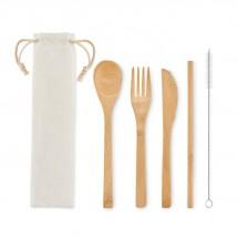 SETSTRAW Besteck-Set Bambus beige