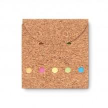 Notizblock-Set mit Kork FOLDCORK - beige