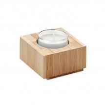 LUXOR Teelichthalter Bambus holzfarbend