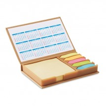 Notizzettelhalter mit Kalender MEMOCALENDAR - beige