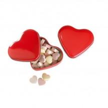 Herzdose mit Bonbons LOVEMINT - rot