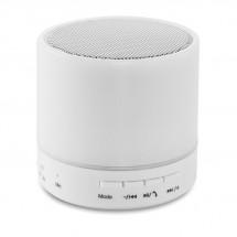 Bluetooth Lautsprecher LED ROUND WHITE - weiß