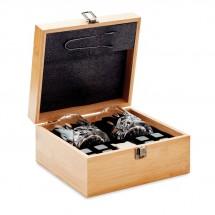 Whisky Set in Bambus Box INVERNESS - holzfarben
