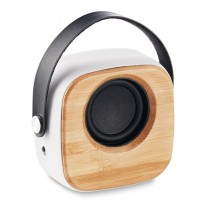 BT 5.0 Lautsprecher Bambus OHIO SOUND - weiß