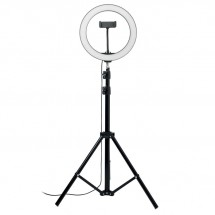 HELO Set LED-Ringleuchte 26cm schwarz