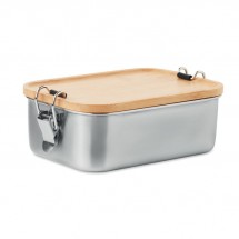 SONABOX Lunchbox Edelstahl holzfarbend