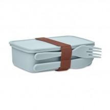 SUNDAY Lunchbox mit Besteck himmelblau