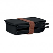 SUNDAY Lunchbox mit Besteck schwarz