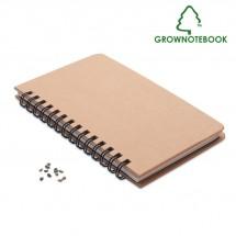 GROWNOTEBOOK™ Notizbuch Kiefersamen beige