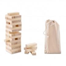 Holzturm Spiel PISA - holzfarben