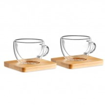 Set mit 2 Espressogläsern BELIZE - transparent