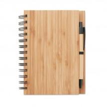 DIN A5 Notizbuch BAMBLOC - holzfarben