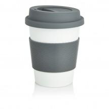 PLA Kaffeebecher, weiß/grau