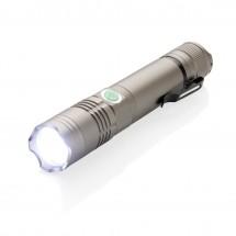 Wiederaufladbare 3W Taschenlampe - grau