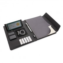 Fiko A4 Wireless Charging Portfolio mit Powerbank-schwarz