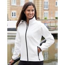 Ladies Printable Soft Shell Jacket - Black/Black
