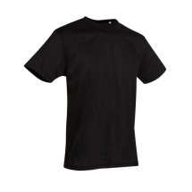 Crew Neck T-Shirt Active Cotton Touch - Black Opal