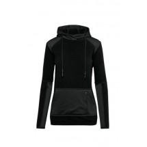 HAKRO Damen Kapuzen-Stretchfleece Morris - schwarz