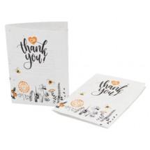 Samenpapier DIN A6 - Klappkarte - 21,0 x 14,8 cm - Blumenmischung 4/4-c