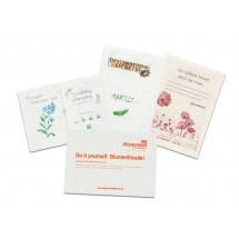 Samenpapier DIN A6 - 10 5 x 14,8 cm - Postkarte - Blumenmischung 4/4-c