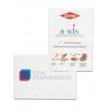 Samenpapier DIN A7 - 7,4 x 10,5 cm - Blumenmischung 4/0-c