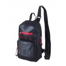 Crossbody Rucksack CROSS BAG - rot, schwarz